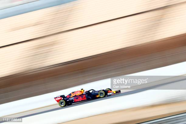 Pierre Gasly of France driving the Aston Martin Red Bull Racing RB15 during day four of F1 Winter Testing at Circuit de Catalunya on February 21,...