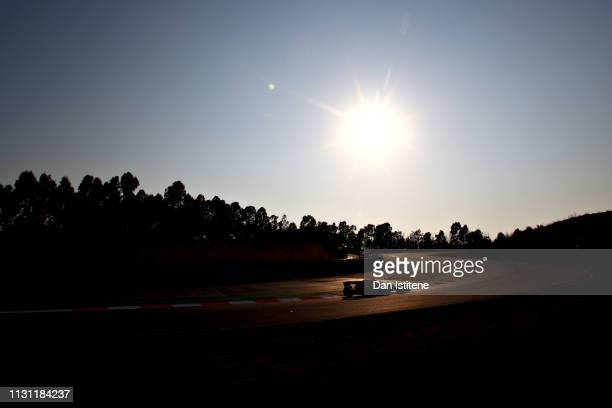 Pierre Gasly of France driving the Aston Martin Red Bull Racing RB15 on track during day four of F1 Winter Testing at Circuit de Catalunya on...