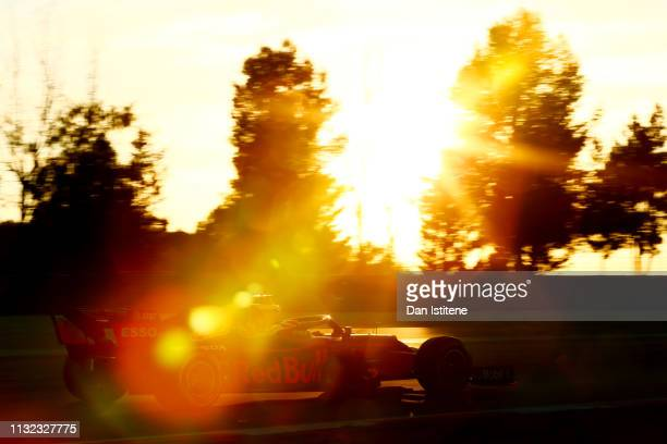 Pierre Gasly of France driving the Aston Martin Red Bull Racing RB15 during day one of F1 Winter Testing at Circuit de Catalunya on February 26 2019...