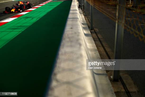 Pierre Gasly of France driving the Aston Martin Red Bull Racing RB15 on track during day three of F1 Winter Testing at Circuit de Catalunya on...