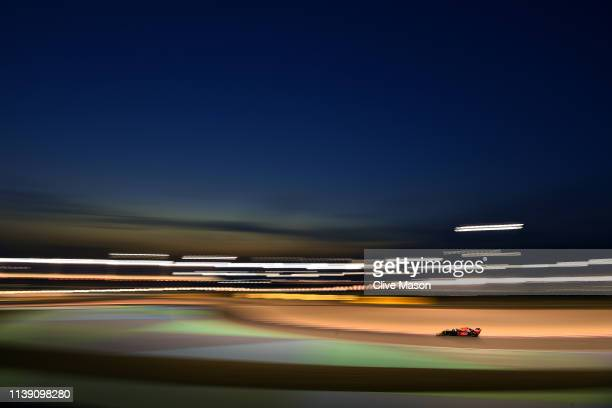 Pierre Gasly of France driving the Aston Martin Red Bull Racing RB15 on track during practice for the F1 Grand Prix of Bahrain at Bahrain...