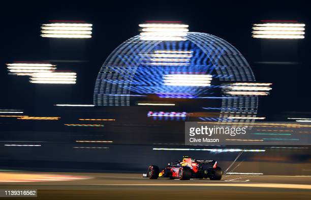 Pierre Gasly of France driving the Aston Martin Red Bull Racing RB15 on track during qualifying for the F1 Grand Prix of Bahrain at Bahrain...