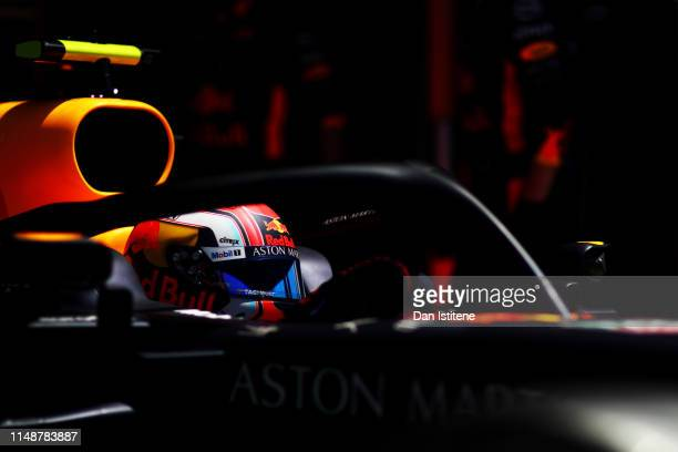 Pierre Gasly of France driving the Aston Martin Red Bull Racing RB15 leaves the garage for the grid before the F1 Grand Prix of Canada at Circuit...