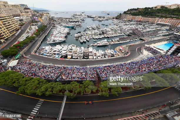 Pierre Gasly of France driving the Aston Martin Red Bull Racing RB15 on track during the F1 Grand Prix of Monaco at Circuit de Monaco on May 26, 2019...