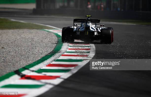 Pierre Gasly of France driving the Scuderia AlphaTauri AT01 Honda on track during final practice for the F1 Grand Prix of Italy at Autodromo di Monza...