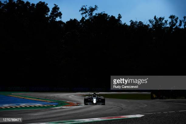 Pierre Gasly of France driving the Scuderia AlphaTauri AT01 Honda on track during qualifying for the F1 Grand Prix of Italy at Autodromo di Monza on...