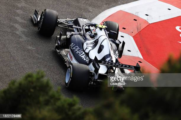 Pierre Gasly of France driving the Scuderia AlphaTauri AT02 Honda on track during the F1 Grand Prix of Azerbaijan at Baku City Circuit on June 06,...