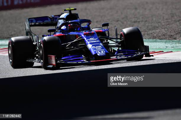 Pierre Gasly of France driving the Scuderia Toro Rosso STR14 Honda on track during qualifying for the F1 Grand Prix of Japan at Suzuka Circuit on...
