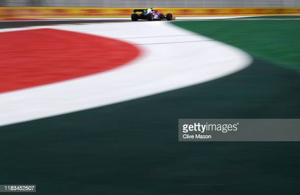 Pierre Gasly of France driving the Scuderia Toro Rosso STR14 Honda on track during practice for the F1 Grand Prix of Mexico at Autodromo Hermanos...
