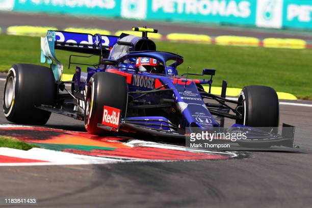 Pierre Gasly of France driving the Scuderia Toro Rosso STR14 Honda on track during the F1 Grand Prix of Mexico at Autodromo Hermanos Rodriguez on...