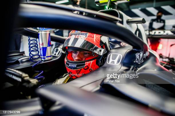 Pierre Gasly of Scuderia AlphaTauri and France during final practice ahead of the F1 Grand Prix of Emilia Romagna at Autodromo Enzo e Dino Ferrari on...