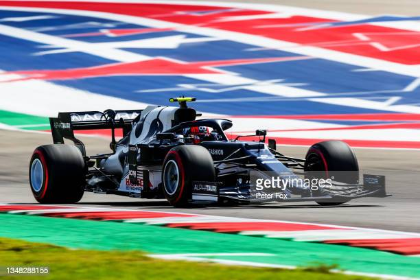 Pierre Gasly of Scuderia AlphaTauri and France during final practice ahead of the F1 Grand Prix of USA at Circuit of The Americas on October 23, 2021...