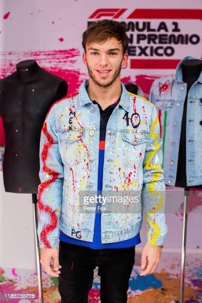 Pierre Gasly of Scuderia Toro Rosso and France during previews ahead of the F1 Grand Prix of Mexico at Autodromo Hermanos Rodriguez on October 24...