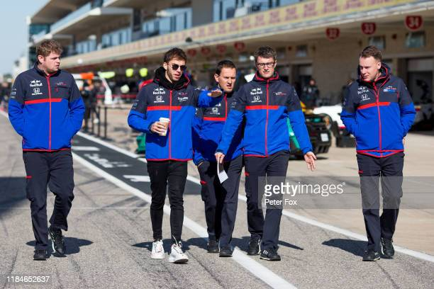 Pierre Gasly of Scuderia Toro Rosso and France during previews ahead of the F1 Grand Prix of USA at Circuit of The Americas on October 31 2019 in...