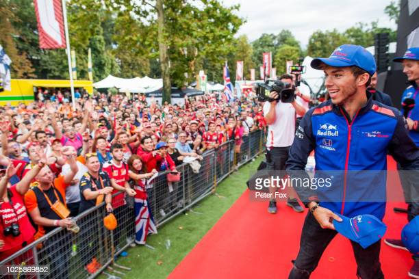 Pierre Gasly of Scuderia Toro Rosso and France during qualifying for the Formula One Grand Prix of Italy at Autodromo di Monza on September 1 2018 in...