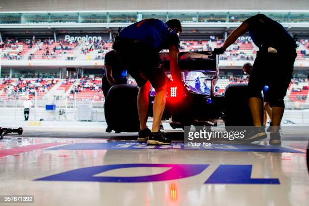 Pierre Gasly of Scuderia Toro Rosso and France during qualifying for the Spanish Formula One Grand Prix at Circuit de Catalunya on May 12 2018 in...