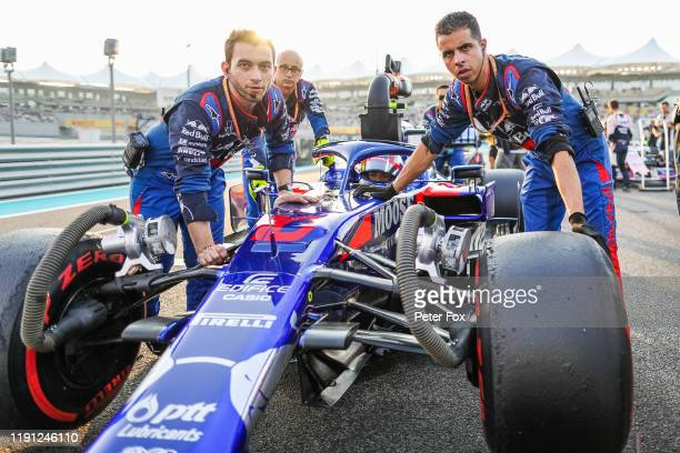 Pierre Gasly of Scuderia Toro Rosso and France during the F1 Grand Prix of Abu Dhabi at Yas Marina Circuit on December 01 2019 in Abu Dhabi United...
