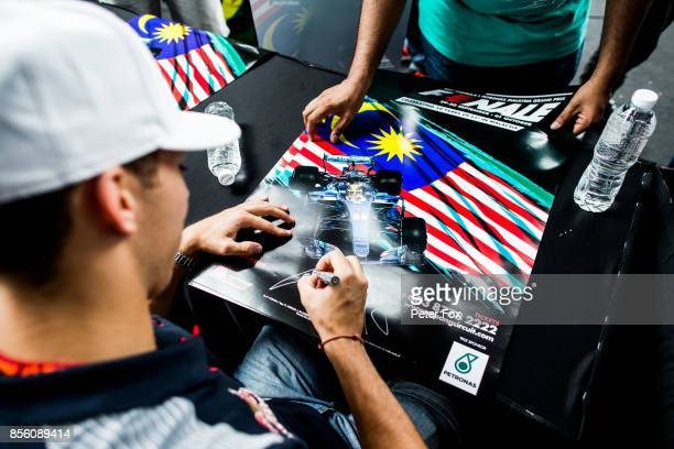 Pierre Gasly of Scuderia Toro Rosso and France during the Malaysia Formula One Grand Prix at Sepang Circuit on October 1 2017 in Kuala Lumpur Malaysia