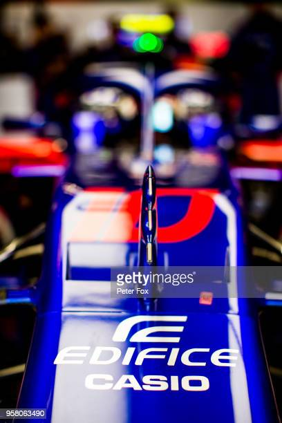 Pierre Gasly of Scuderia Toro Rosso and France during the Spanish Formula One Grand Prix at Circuit de Catalunya on May 13 2018 in Montmelo Spain