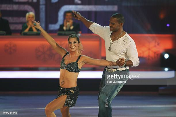 Pierre Geisensetter and Denise Biellmann perform on the TV Show Stars on Ice on Pro7 at the Europa Park Resort on October 25 2006 in Rust Germany