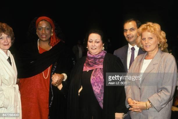 Pierre Gire fonctionnaire de l'ONU a l'ouverture du Festival Atlantique avec a ses cotes Mady Mesple Jessye Norman Montserrat Caballe et Katia...