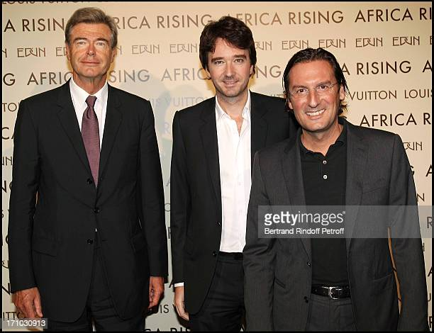 Pierre Godd Antoine Arnault Pietro Beccari at Every Journey Began In Africa Party For The Exhibition Africa Rising And The Discovery Of The...