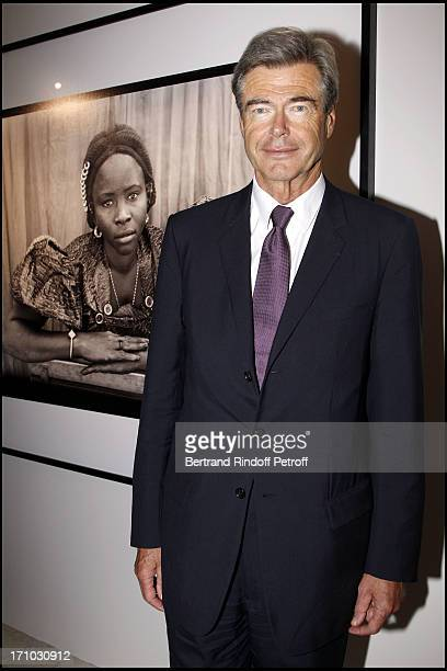 Pierre Godde at Every Journey Began In Africa Party For The Exhibition Africa Rising And The Discovery Of The Collaboration Between Edun And Louis...