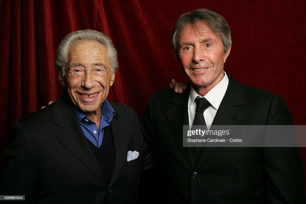 Pierre Grimblat and Francis Veber at the 'Henri Jeanson' prize ceremony.