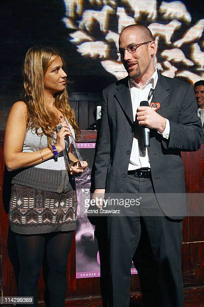 Pierre Grzybowski gives fashion designer Charlotte Ronson the 2009 Compassion In Fashion Award at The Humane Society of the United States & The Art...