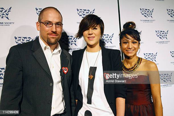 Pierre Grzybowski, Ingrid Bergstrom-Kendrick and Sarika Reuben; attend The Humane Society of the United States & The Art Institute's Fifth Annual...