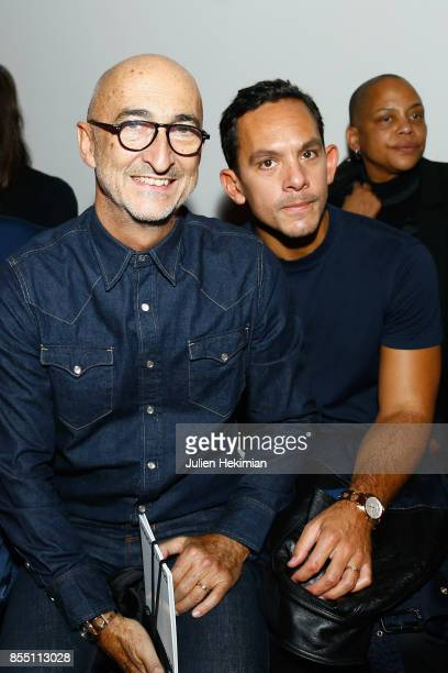Pierre Hardy and Christopher Turnier attend the Paco Rabanne show as part of the Spring Summer 2018 Womenswear Show at Grand Palais on September 28...