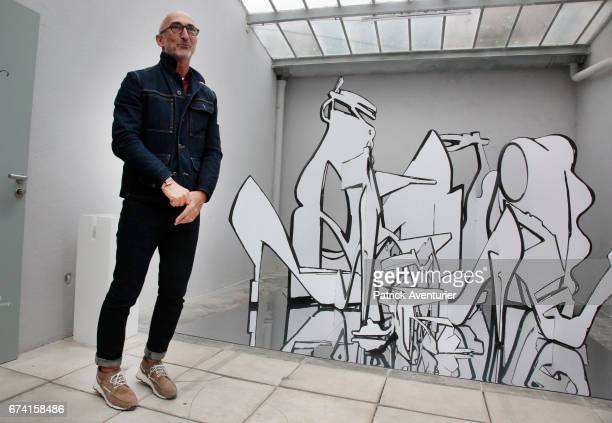 Pierre Hardy attends day one of the 32nd International Festival of Fashion and Photography on April 27 2017 in Hyeres France Artistic director of...