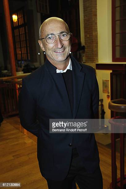 Pierre Hardy attends the private Dinner hosted by Surface Magazine And Azzedine Alaia Private Dinner as part of Paris Fashion Week Spring/Summer...