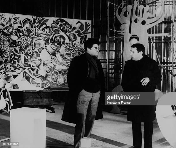 Pierre Henry French Composer And Raymond Moretti French Painter In Nice France On December 1968