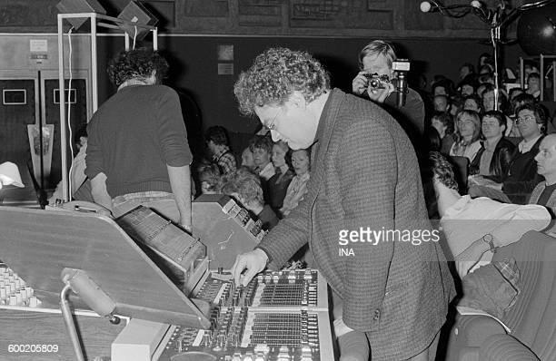 Pierre Henry giving a concert to the big auditorium of the Maison de la Radio