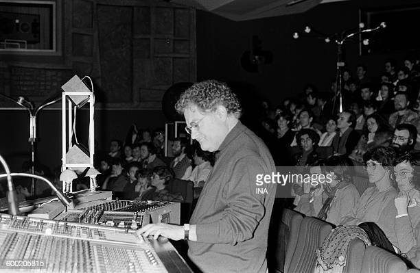 Pierre Henry giving a concert to the big auditorium of the Maison de la Radio