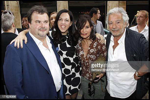 Pierre Herme Barbara Rhil Evelyne Bouix Pierre Arditi at Inauguration Of First Boutique Barbara Rhil In Paris