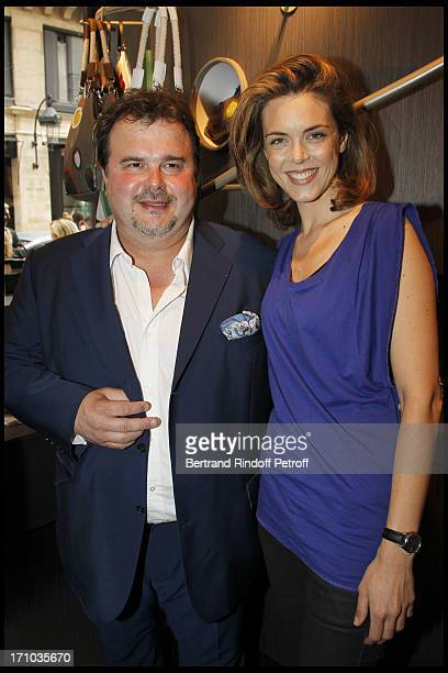 Pierre Herme Julie Andrieu at Inauguration Of First Boutique Barbara Rhil In Paris