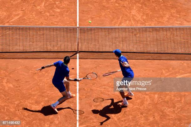 Pierre Hugues Herbert and Nicolas Mahut of France during the Monte Carlo Rolex Masters 2017 on April 22 2017 in Monaco Monaco