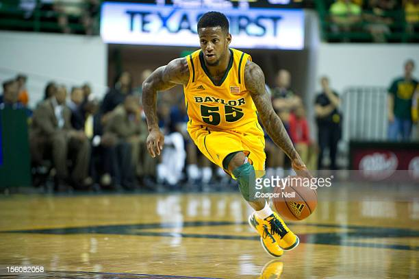 Pierre Jackson of the Baylor University Bears drives the ball against the Jackson State University Tigers on November 11 2012 at the Ferrell Center...