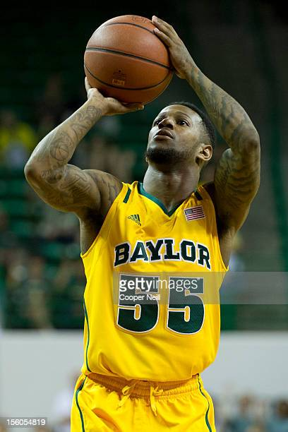 Pierre Jackson of the Baylor University Bears shoots a freethrow against the Jackson State University Tigers on November 11 2012 at the Ferrell...