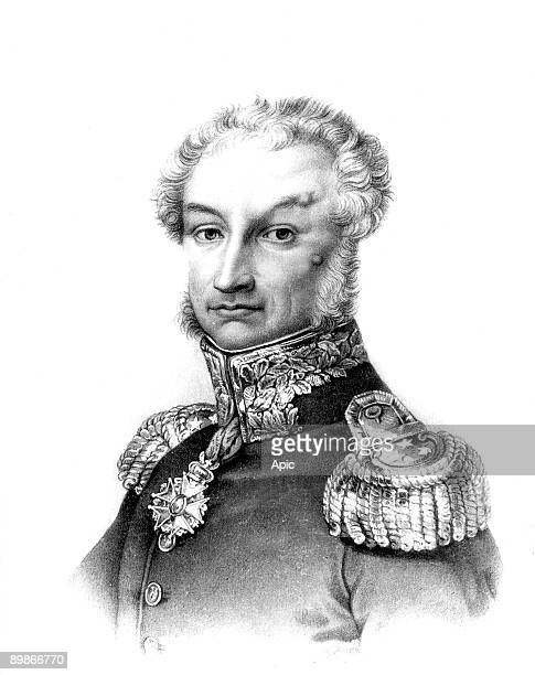 Pierre Jacques Etienne Baron de Cambronne french officer of the napoleonic army who led the troops during Waterloo battle engraving