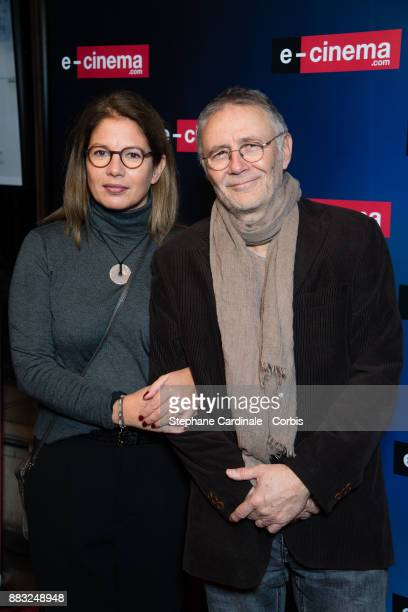 Pierre Jolivet and a guest attend 'ecinemacom' Launch Party at Restaurant L'Ile on November 30 2017 in IssylesMoulineaux France