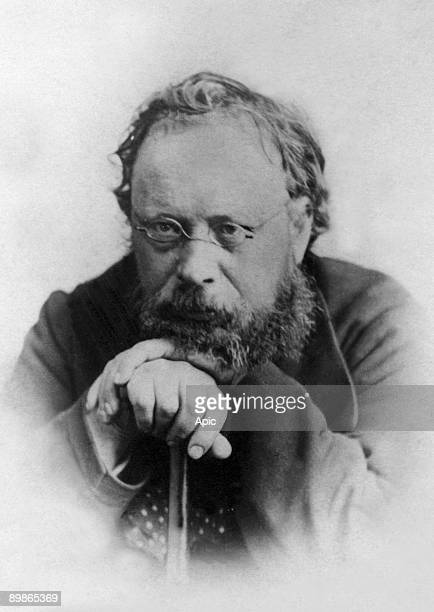 Pierre Joseph Proudhon trade union French socialist and political theorist photo by Reutlinger in Munich in december 1870