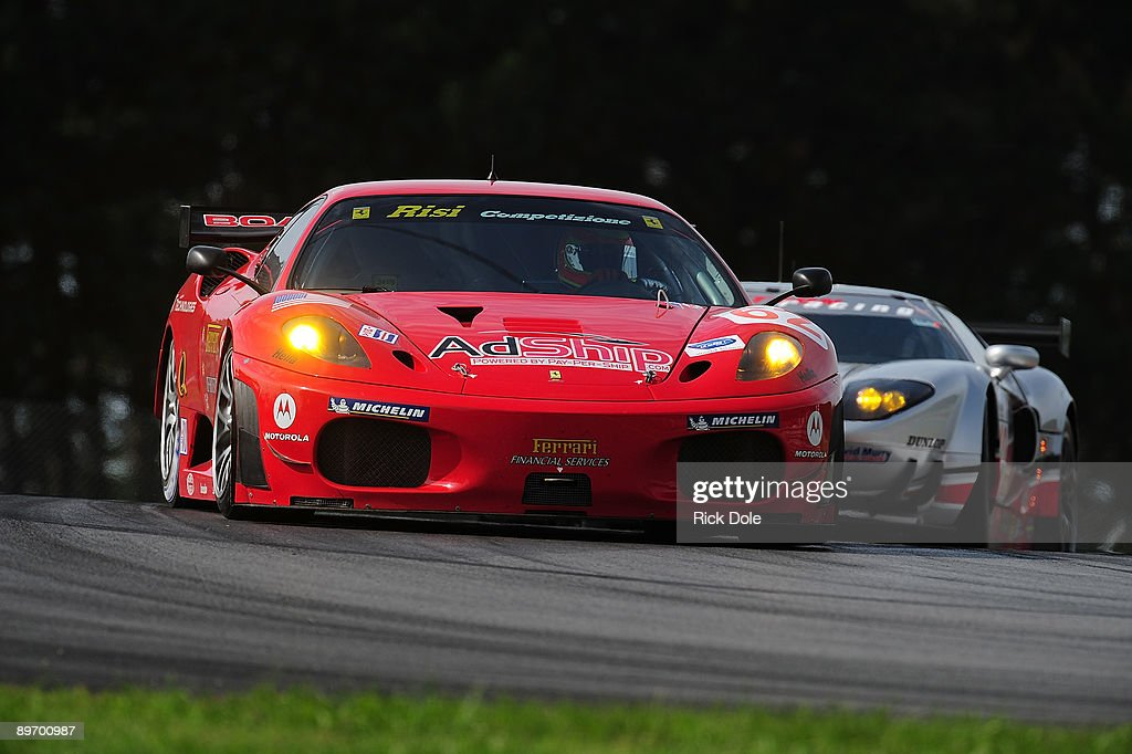 Pierre Kaffer Drives The # 62 Risi Competizion Ferrari 430 GT During  Practice For The American