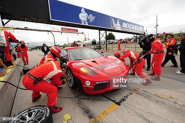 Pierre Kaffer drives the Risi Competizione Ferrari 430 GT during the American Le Mans Series Mobil 1 Presents The Grand Prix of Mosport at Mosport...