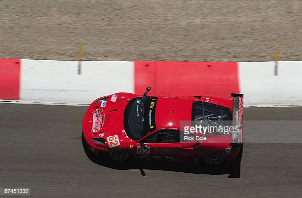 Pierre Kaffer driving the Risi Competizione Ferrari 430 GT during the American Le Mans Series Larry H Miller Dealerships Utah Grand Prix on May 17...