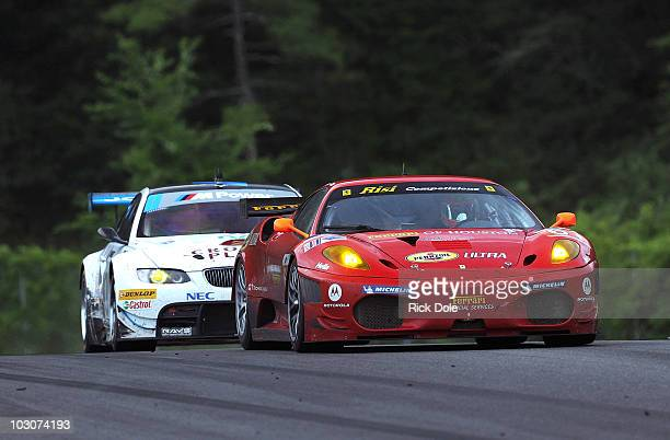 Pierre Kaffer of Germany drives the Risi Competizione Ferrari 430 GT during the American Le Mans Series Northeast Grand Prix at Lime Rock Park on...