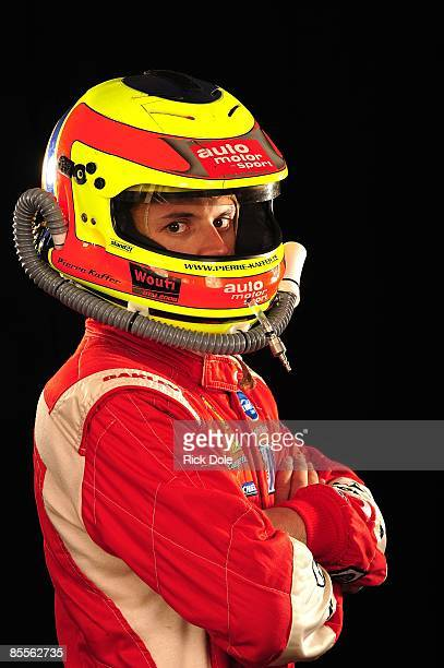 Pierre Kaffer of Switzerland driver of the Risi Competizione Ferrari 430 GT poses for a photo on March 18 2009 in Sebring Florida