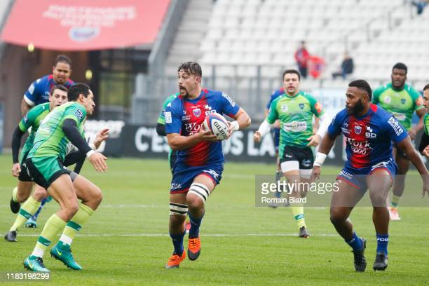 Pierre KLUR of Montauban during the Pro D2 match between FC Grenoble Rugby and US Montauban on November 17, 2019 in Grenoble, France.